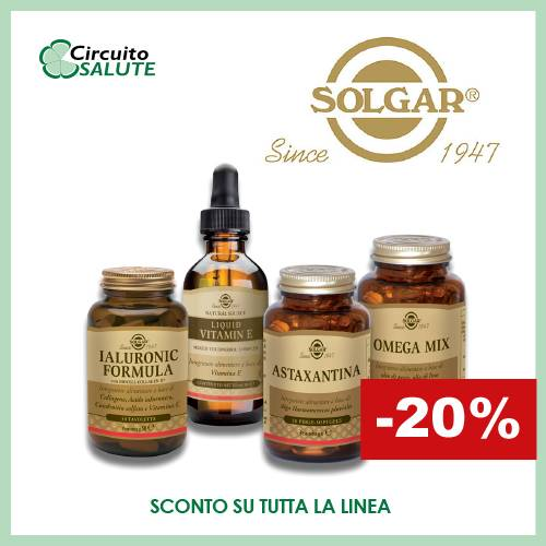 Solgar Sconto 20%- Circuitosalute.it