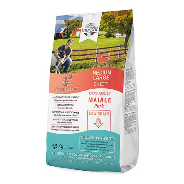 AEQUILIBRIAVET Dog Low Grain Medium Maiale 1,5kg
