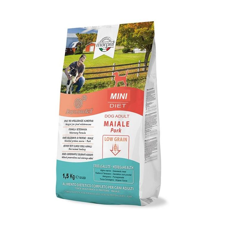 AEQUILIBRIAVET Dog Low Grain Mini Maiale 1,5kg