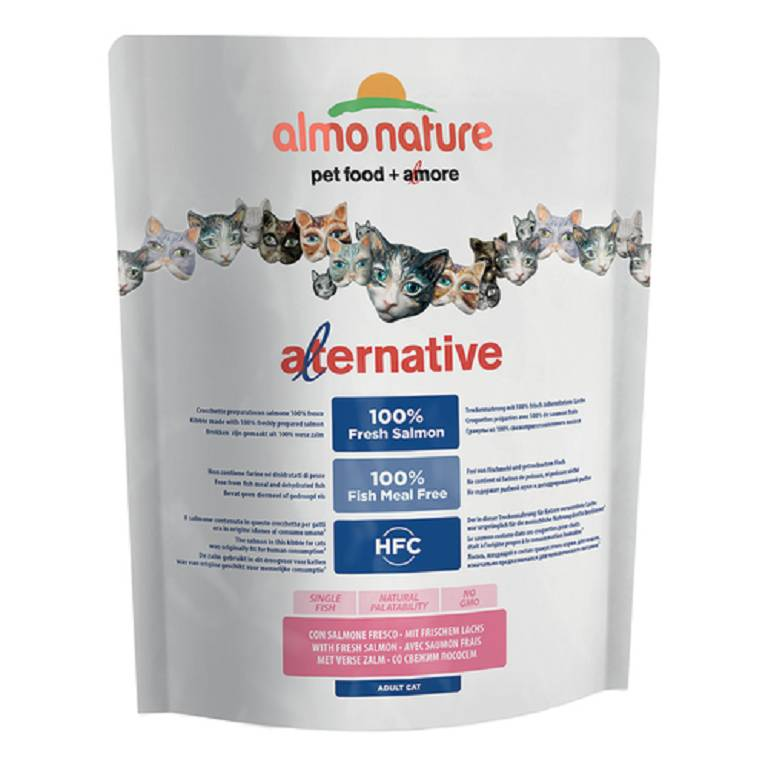ALMO NATURE Alternative Dry Cat Salmone Riso 2k