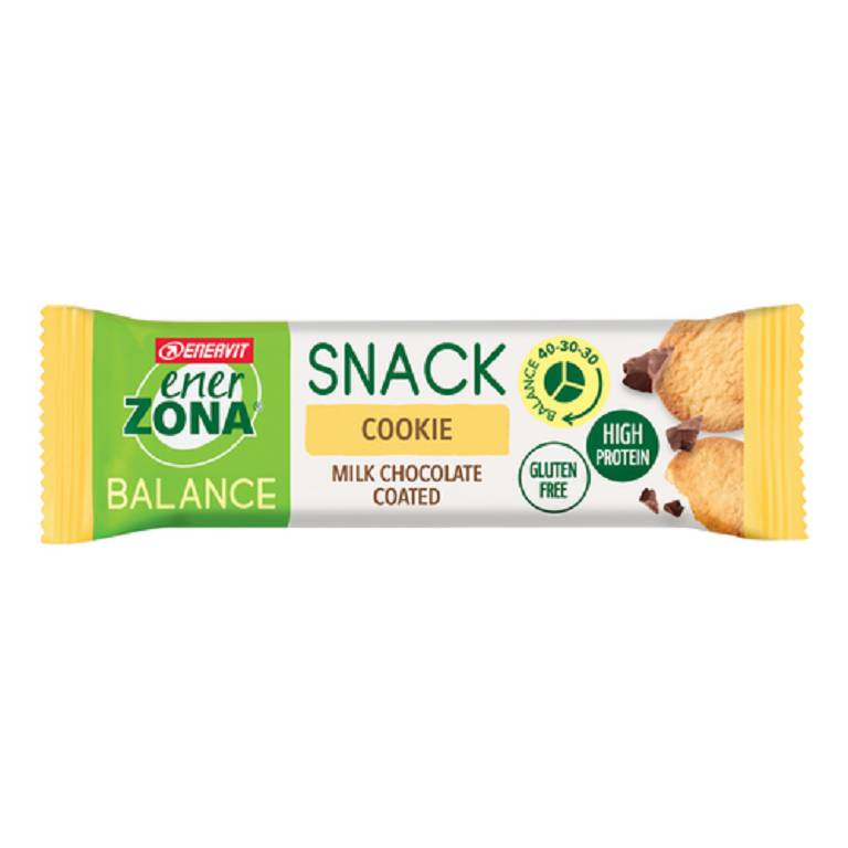 ENERZONA  Snack Cookie Milk Chocolate Barretta 33g