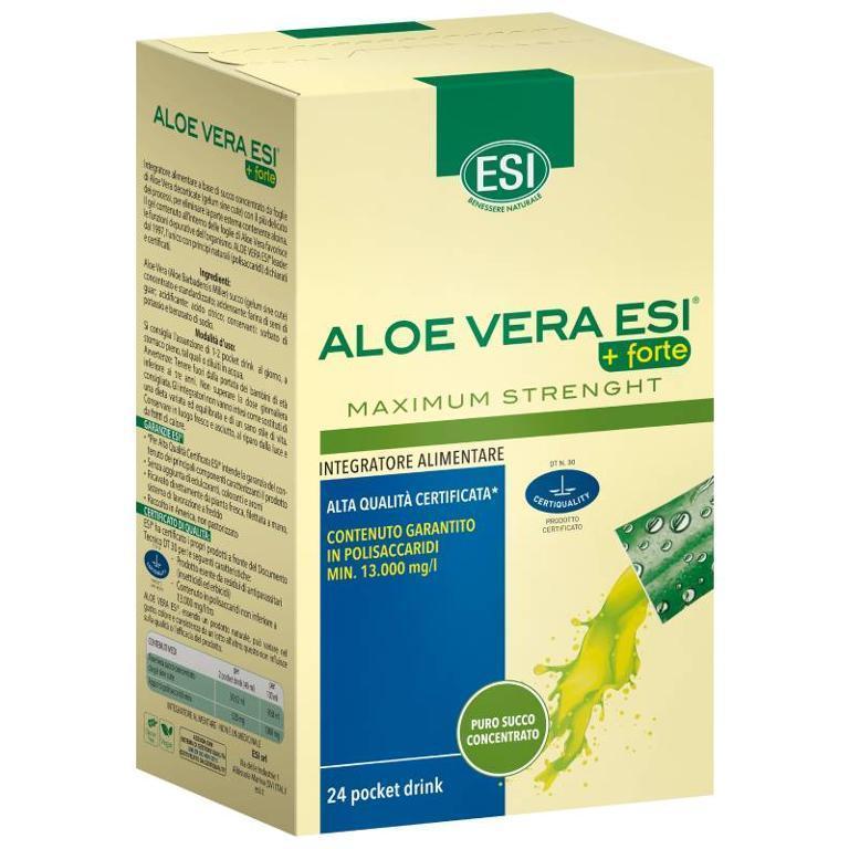 ESI Aloe Vera Succo+Forte 24 Pocket Drink