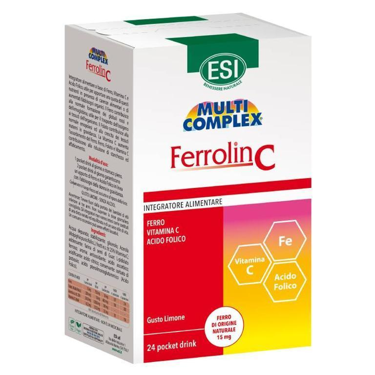 ESI Ferrolin C Pocket Drink 24 Bustine