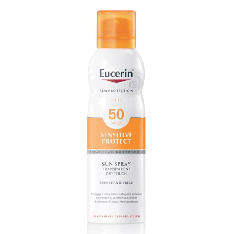 EUCERIN Sunsensitive Protect Sun Transparent Dry Touch Spray SPF50