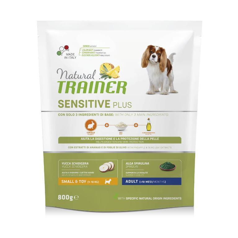 NATURAL TRAINER Cane Sensitive Plus Adult Mini Coniglio 800g