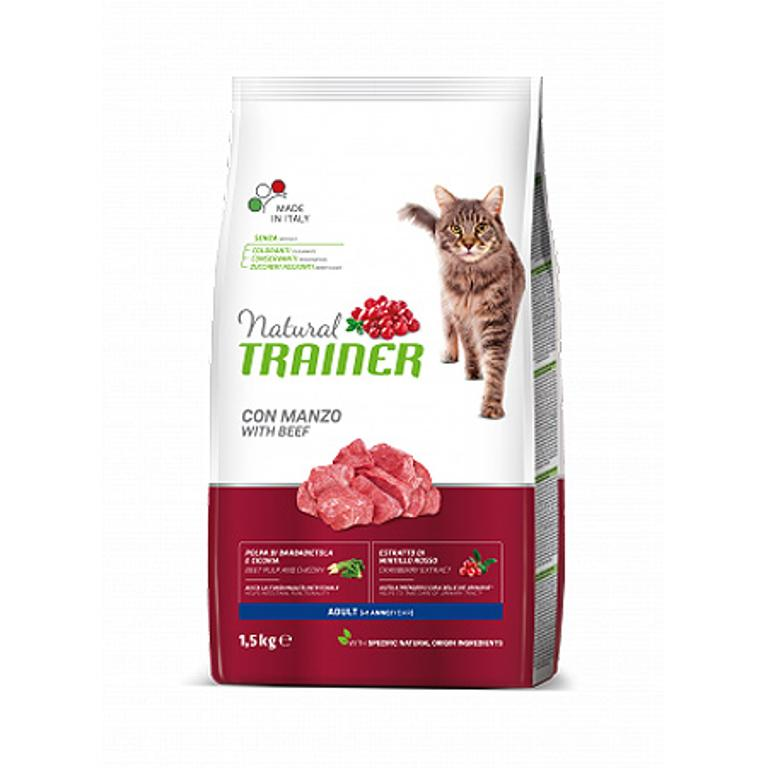 NATURAL TRAINER  Cat Adult Manzo 1,5kg