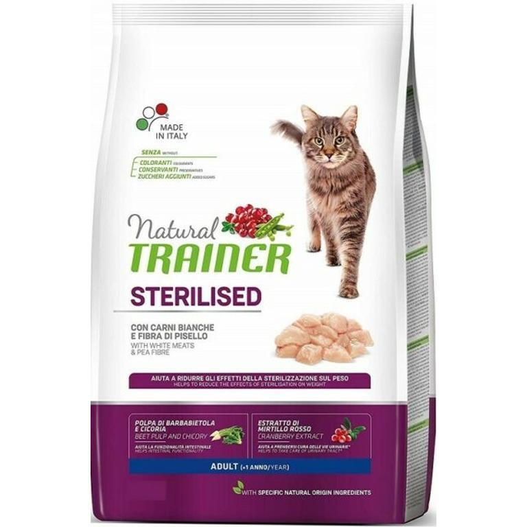 NATURAL TRAINER Cat Sterilizzato Carne Bianca 1,5kg