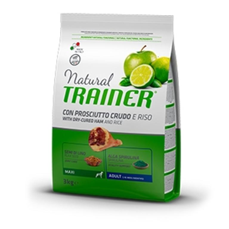 NATURAL TRAINER Dog Maxi Adult Prosciutto Crudo Riso 12k