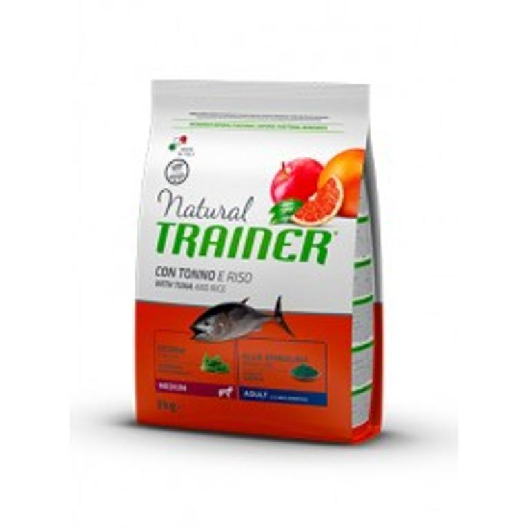 NATURAL TRAINER Dog Medium Adult Pesce Riso 12kg