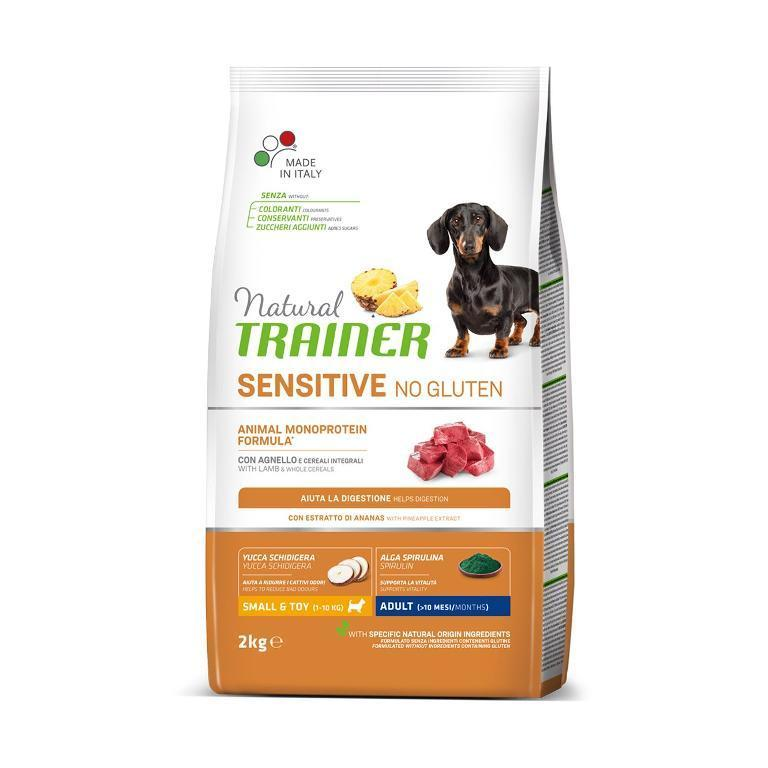 NATURAL TRAINER Sensitive No Gluten Ault Mini Agnello 2kg