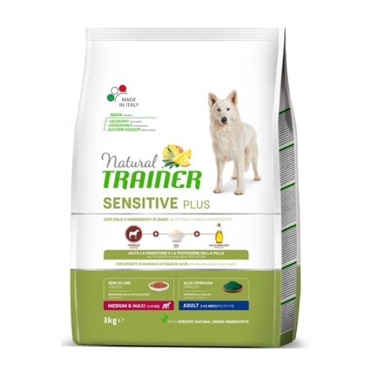 NATURAL TRAINER Sensitive Plus Adulto Amdium Maxi Cavallo 3kg