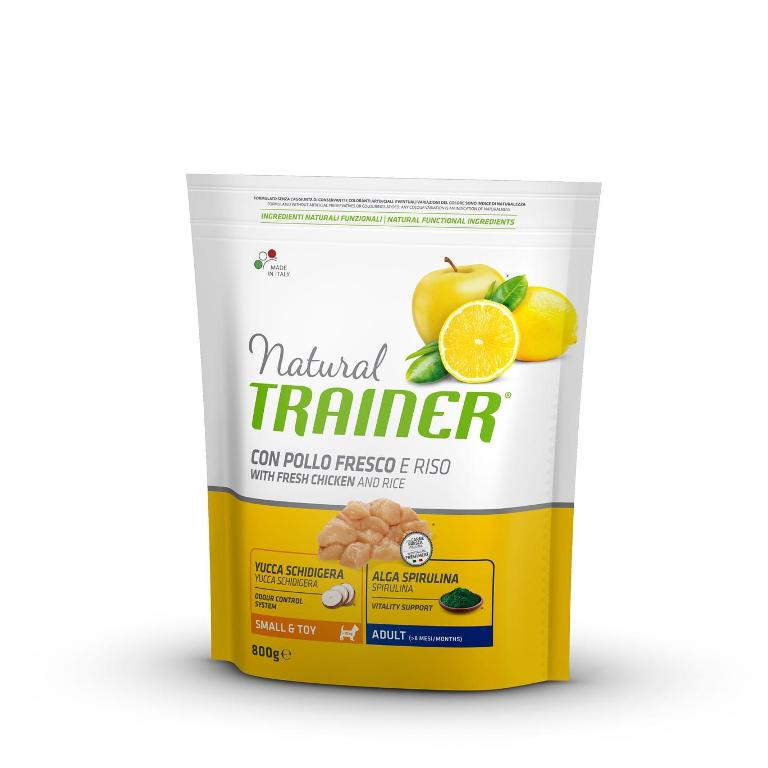 NATURAL TRAINER Small&Toy Adult Pollo&Riso 800g