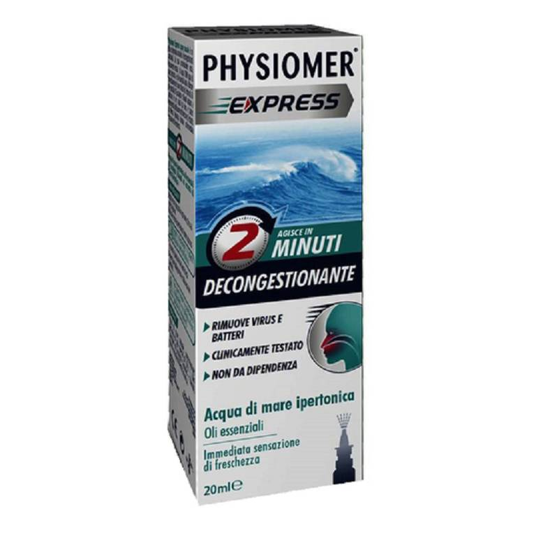 PHYSIOMER Express Spray Nasale Decongestionante 20ml- Circuitosalute.it