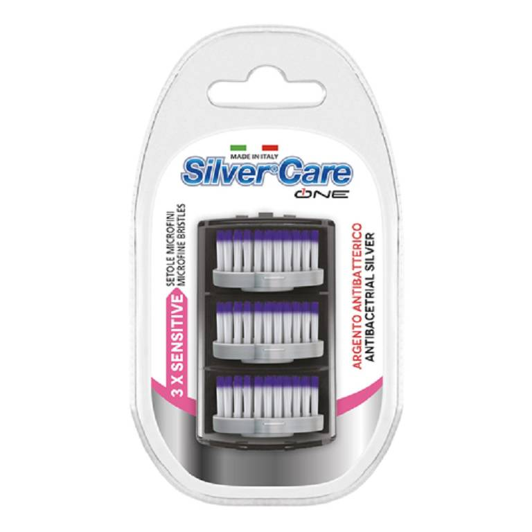 SILVER CARE One Sensitive Ricambio Spazzolino Antibatterico 3pz