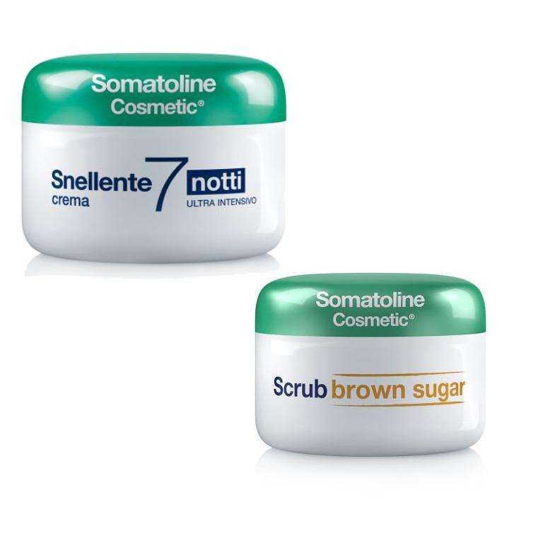 SOMATOLINE Snellente 7 notti Ultra Intensivo 400 ml + omaggio scrub brown sugar 350 gr