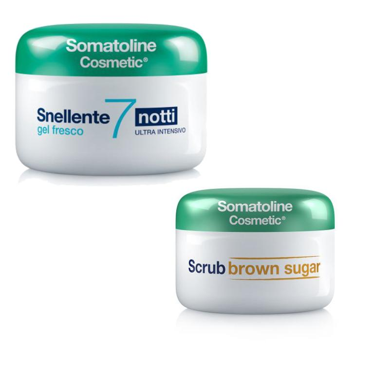 Somatoline Snellente 7 Notti Ultra Intensivo Gel Fresco 400 ml + Omaggio Scrub Brown Sugar 350 gr