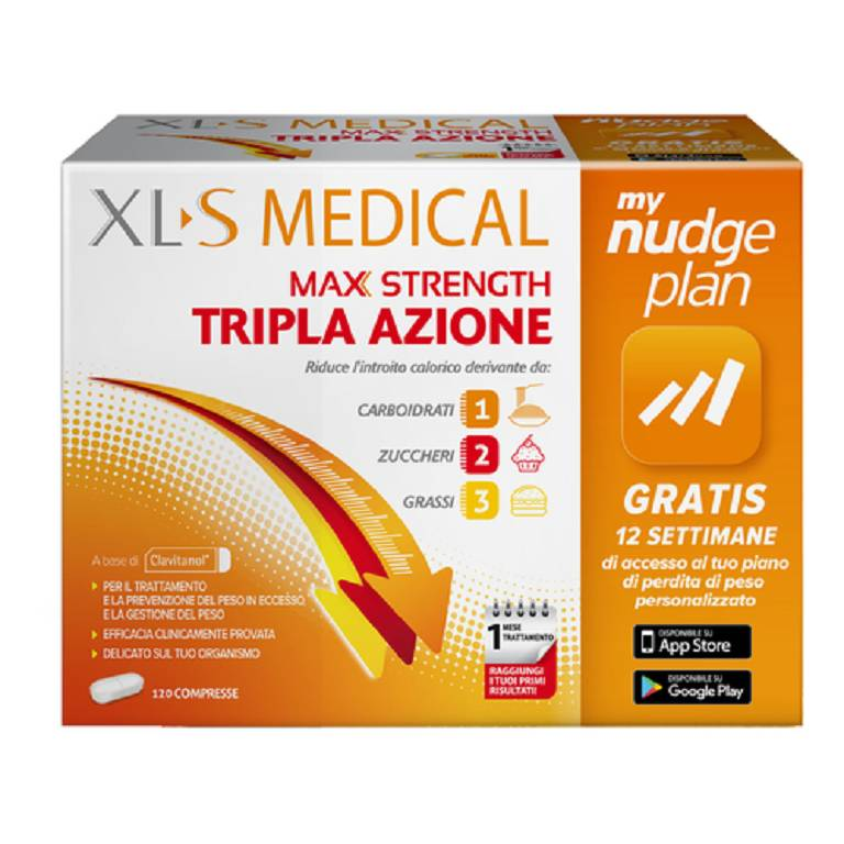 -30% XLS Medical Max Strength Integratore Perdita Peso 120 Compresse| Circuitosalute.it